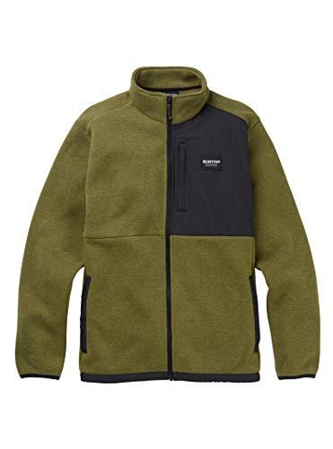 Burton Men's Hayrider Sweater Fleece Full-Zip Burton Full Zip Sweatshirt