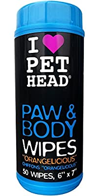 Pet Head Paw & Body Wipes Pack of 50