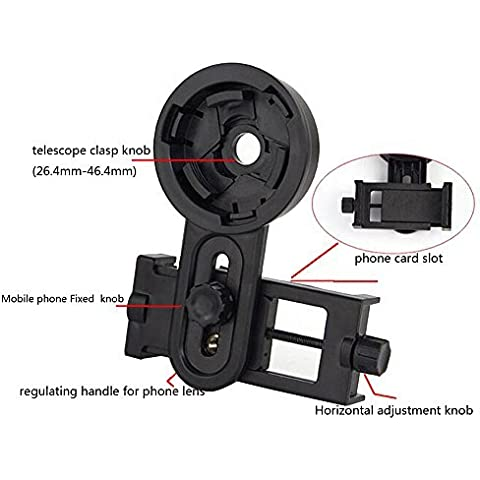 JOYOOO Adaptador Universal de Teléfono Inteligente para Telescopio Microscopio Binocular Telescopio Terrestre Monocular