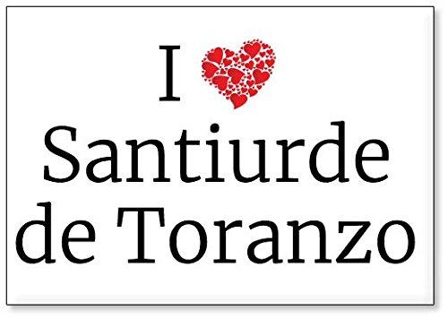 Mundus Souvenirs - Amo Santiurde de Toranzo, Imán para Nevera (diseño 3)