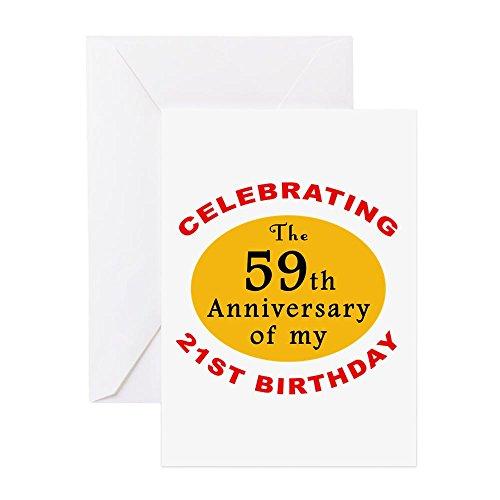 CafePress–Feiern 80. Geburtstag–Grußkarte, Note Karte, Geburtstagskarte, innen blanko, glänzend