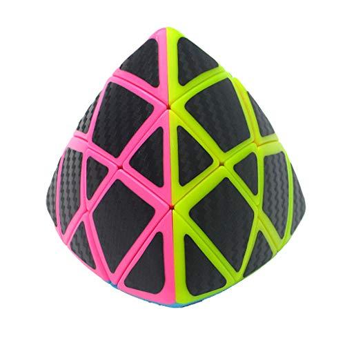 Cubo estéreo de juguete,CHshe,ZONGZI Cubo de fibra de carbono Sticke Magic Cube 3X3,Twisty Puzzle CubeToy,Juguete intelectual del cubo de rubik