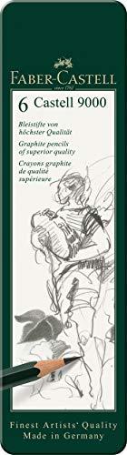 Bleistift Castell 9000, 6-er Etui ()