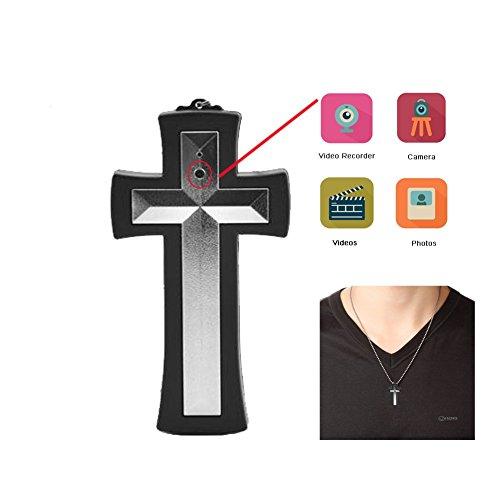 Jcheng Sécurité Croix Collier Spy Camera, ultime caché Digital Fvm2120m-uk 8Go de mémoire interne, Mini DVR Camera facile d'utilisation