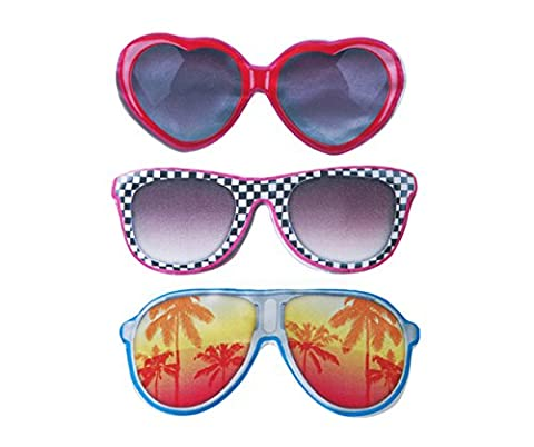Fun Funky Sunglasses Sleep Eye Mask Travel Mask (Pink Hearts)