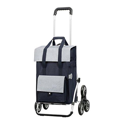 Sondermodell Andersen Einkaufstrolley Royal als Treppensteiger & Einkaufstasche Milla blau | Trolley Gestell Aluminium klappbar