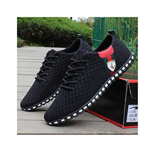 Men Shoes Size 39-46 Adult Men Sneakers Summer Breathable Krasovki Shoes Super Light Casual Shoes Male TeMasculino Sneakers Photo Color 7.5