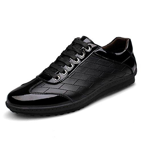 Uomo Tempo libero Scarpe di pelle Scarpe sportive Scarpe casual Antiscivolo formatori Ballerine euro DIMENSIONE 38-45 Black