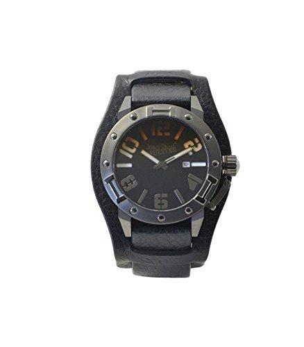 Jean Paul Gaultier 8501702 - Reloj de pulsera hombre, Cuero, color Negro