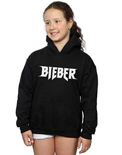 Justin Bieber Mädchen Simple Logo Kapuzenpullover 12-13 years (Hoodie Gir)
