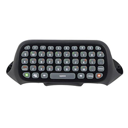 Mini Tastatur Wireless Controller Text Messenger Tastatur 47 Tasten Chatpad Tastatur für Xbox 360 Game Controller Schwarz