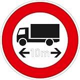 Verkehrszeichen VZ266, Verbot für Fahrzeuge über... Länge, Alu, RA1, Ø 42cm Verkehrsschild