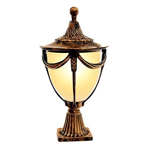 Wegeleuchten Säulenlampe Außenwandleuchte Villa Garten Lampe Gartenlampe Home Landschaft Lampe Im Freien Wasserdichte Säule Lampe Wegeleuchten (Color : Bronze, Size : 17 * 17 * 38cm) (Im Freien Gartendeko)