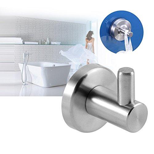 Nikou Kleiderhaken - Badetuchhaken Single Prong Kleiderhaken Durable 304 Edelstahl Home Handtuchhalter für Bad Küche Schlafzimmer