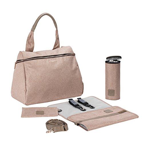 LÄSSIG Baby Wickeltasche Handtasche Stylischer Wickelrucksack inkl. Wickelzubehör/Glam Rosie Bag