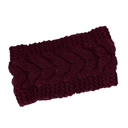 MOMBIY Femmes Cheveux balle Tricot Bandeau élastique Cravate à la main Conception Bande de Cheveux