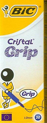 bic-cristal-grip-boite-de-20-stylos-bille-bleu