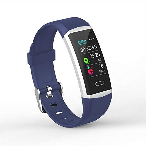 zlywj cardiofrequenzimetro schermo a colori braccialetto intelligente sport all'aria aperta schermo a colori frequenza cardiaca monitoraggio della pressione sanguigna impermeabile profondo