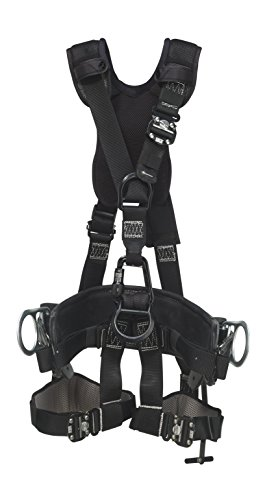 3M DBI-SALA 1113560 Suspension Style Harness, Alum Front/Back D-Rings, Locking Quick-Connect Buckles, Top Grain Leather, 2D D-Size 21 Linemen Belt, Small by 3M Fall Protection Business (Small Business Fall)