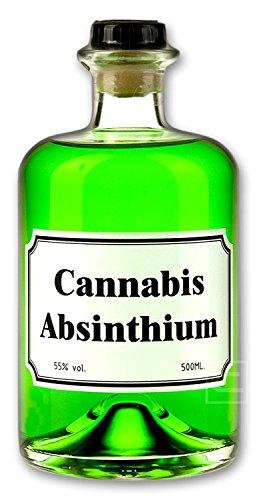 Grüner Cannabis Absinth (0,5l) CBD Getränk - Love, Peace & Harmony
