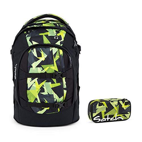 Satch Pack 2er Set Schulrucksack & Schlamperbox - Gravity Jungle, 30 Liter, 1,2 kg