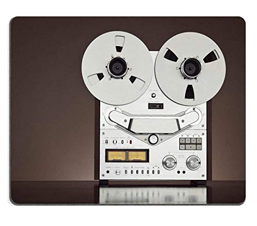Mouse Pad Natural Rubber Mousepad Image ID 31916617 Analog Stereo Open Reel Tape Deck Recorder Vintage Detailed Closeup 250mm*300mm