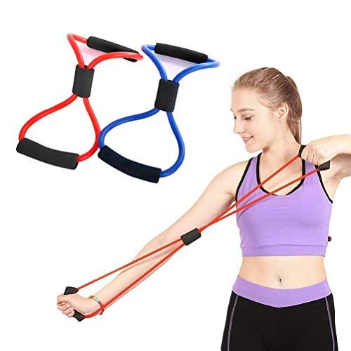 odowalker Übungsband 8Typ Widerstand Bands Seil Tube Workout Fashion Bodybuilding Fitness Equipment Werkzeug für Home Gym Workout, Yoga, Pilates, Arme Pull Up Krafttraining-Pack von 2