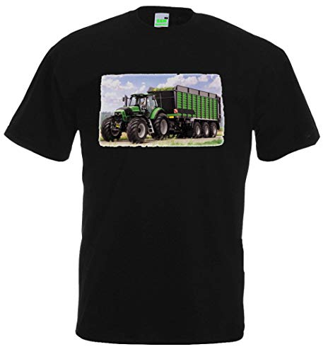 Kinder T-Shirt | Deutz mit Anhänger | Schwarz | Größe 116