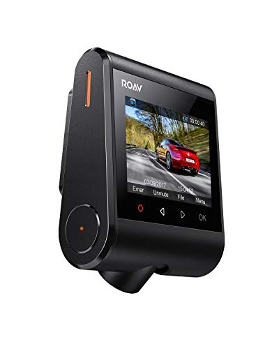 Roav DashCam S1, by Anker, Dash Cam, Dashboard Camera, Full HD 1080p Resolution @60 fps, NightHawk Vision, Sony Starvis Sensor, Built-In GPS, Wi-Fi, Wide-Angle Lens, 2-Port Charger, 32GB microSD Card