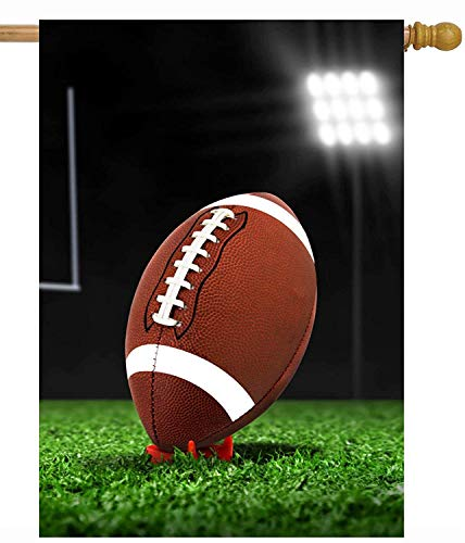 ASKYE American Football On Field Superbowl Ball Team Game House Flag Double Sided Polyester Welcome Yard Garden Flag Banners for Patio Lawn Home Outdoor Decor(Size: 28inch W X 40inch H) -