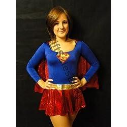 Super - Disfraz de Superman para niña, talla única