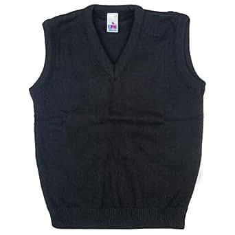 Boys Girls School Uniform Tank Top Sleeveless Jumper Black Size 2-3yrs