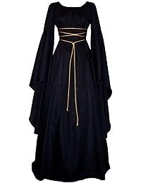 Donna Medievale Vestito Boho Vestito Rinascimento Retro Lungo Abito da  Sposa Cosplay Costume Vestito Vittoriano Partito 323f85a7abc