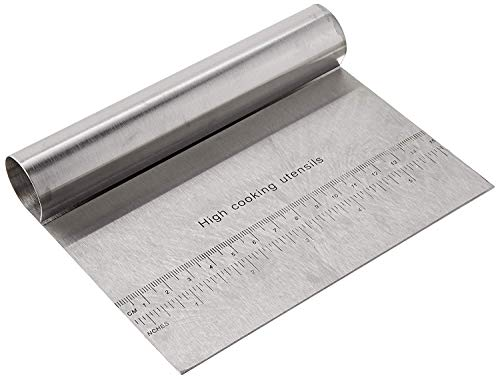 RKPM-Bench-Scraper-Chopper-Stainless-Steel-Kitchen-Food-Scraper-Icing-Smoother-Blade-with-Measuring-Scale-for-Dough-Cake-Pizza-S-Steel