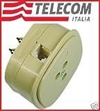 FILTRO ADSL TELEFONO TELECOM TRIPOLARE PRESA RJ 11 TELEFONICO MODEM DA MURO