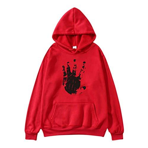 Pullover Sweatshirt für Damen,Kobay 2019 Halloween Heiligabend Weihnachten Womens lose Langarm Sweatshirt Hoodie gedruckt lässig Tops Bluse T Shirt Pullover -