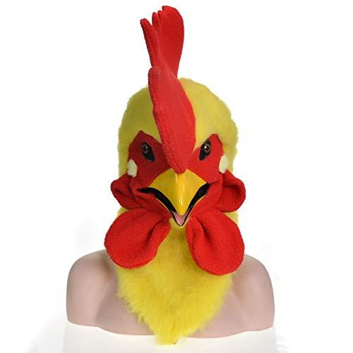 XIANGBAO-Maskenparty Cock bewegliche Mundmaske mit Mover Mund Maske Großhandel Design OEM ODM Fabrik Fabrik Halloween im Freien Urlaub (Color : Yellow, Size : 25 * 25)
