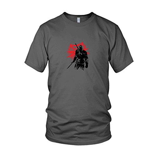 Assassin Dark Kostüm - Geralt - Herren T-Shirt, Größe: M, Farbe: grau