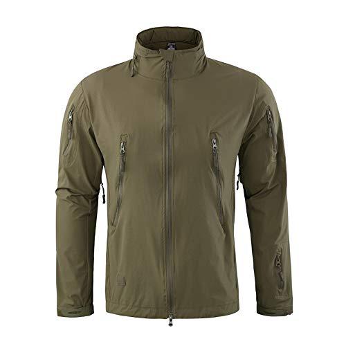 serliyMen's Windproof Warm Outdoor Coat Hooded Jacket Sports Uniform Velvet Overalls Herren Jacke Windjacke Kapuze Tragebeutel Camping Outdoor, Frühling