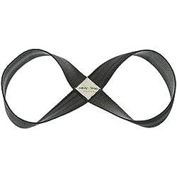 Infinity Strap Correa elástica para estiramientos, diseño con forma de infinito - 3tamaños (niebla, pequeño, 33- 40,64cm)