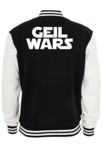 Geil Wars Font Giacca Collegio Nero-XXL