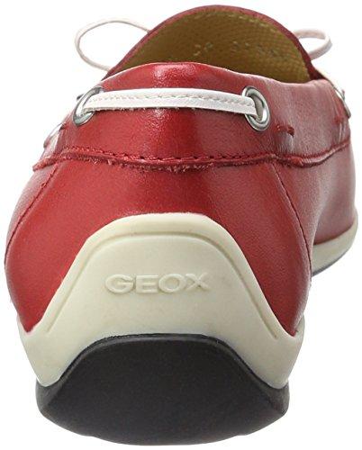 Geox Damen D Yuki A Mokassin Rot (RED/WHITEC0003)