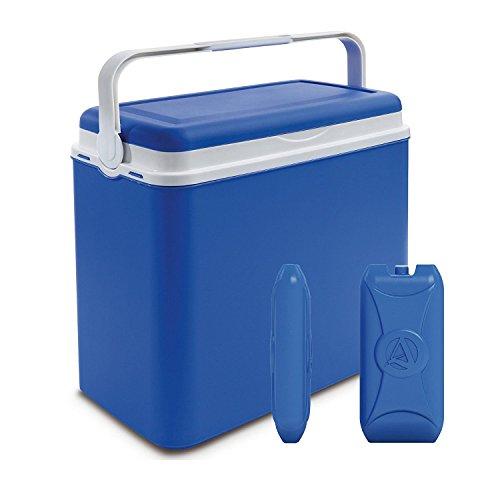 Nevera portátil para playa o acampada, con aislamiento, tamaño grande, azul, 24...