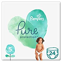 Pampers Pure Protection Diapers, Size 5, 11kg, 24 Count