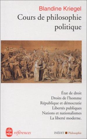 Cours de philosophie politique