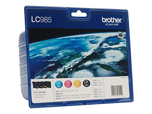Brother LC985 Value Pack Original Tintenpatronen (für Brother DCP-125C, DCP-140W, DCP-315W, DCP-515W, MFC-J220, MFC-J265W, MFC-J410, MFC-J415W) -