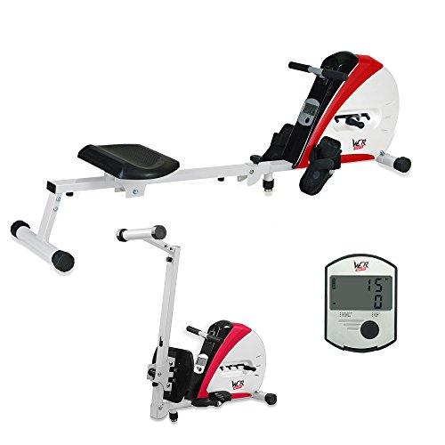 We R Sports Premium-Rudergerät, Heim-Rudergerät zum Trainieren, für Fitness, Kardio, Workout, Gewichtsabbau rot rot