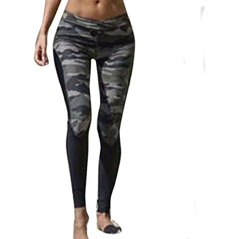 pantalón chandal mujer Sannysis yoga pantalón mujer runing camuflaje (L)