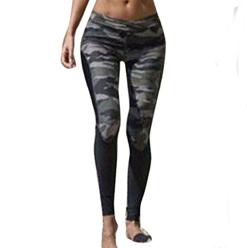 pantalón chandal mujer Sannysis yoga pantalón mujer runing camuflaje (S)