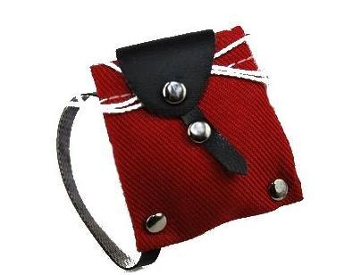 Rucksack Tasche rot Miniatur für Puppenstube Puppenhaus - Maßstab 1:12 - Wanderrucksack / Wandern - Wanderurlaub Deko